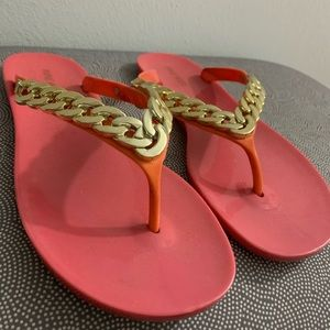 Nine West Stylish gold and pink Sandals
